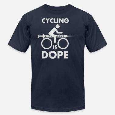 Cycling Is Dope Man Cycling Is Dope Cyber System - Men's Fine Jersey T-Shirt