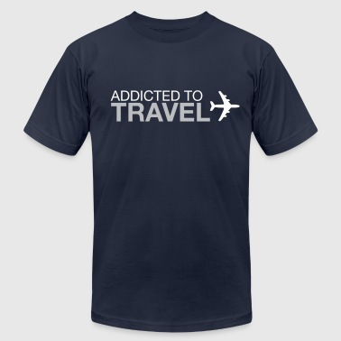 Travel Addict Addicted to Travel - Men's Fine Jersey T-Shirt