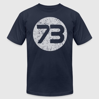 73 Best Number  - Men's Fine Jersey T-Shirt