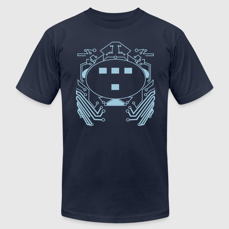 Retro 80s Tron Flex Print Design - Men's Fine Jersey T-Shirt
