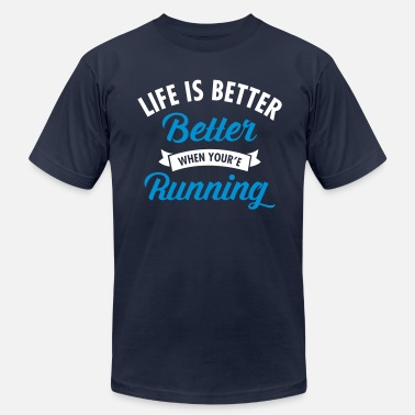 Sports Life Is Better When You're Running - Men's  Jersey T-Shirt