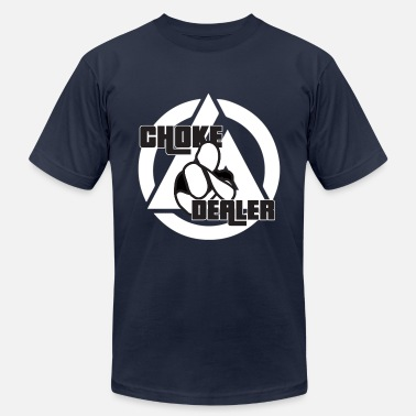 Jiujitsu Choke Dealer (White) - Men's Fine Jersey T-Shirt