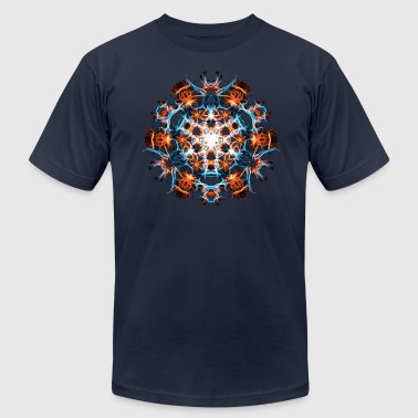 Psytrance Power Symbol, Fractal Art, Energy, Hero, Superhero - Men's Fine Jersey T-Shirt