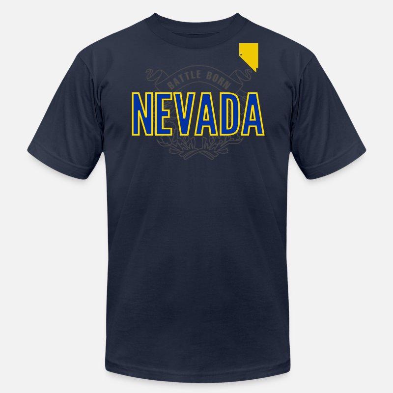 new arrivals 5bd7c 9211f Nevada Battle Born Jersey Wolfpack basketball foot Men's Jersey T-Shirt -  navy