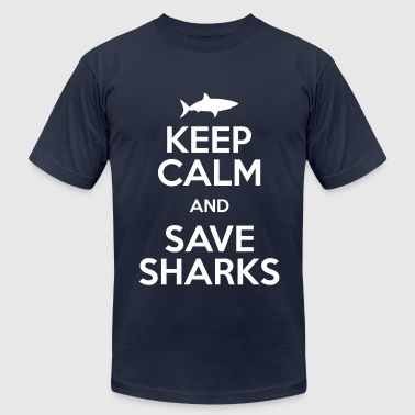 keep calm and save sharks - Men's Fine Jersey T-Shirt