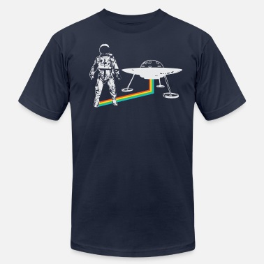 Ufo Spaceman with UFO rainbow  - Men's  Jersey T-Shirt