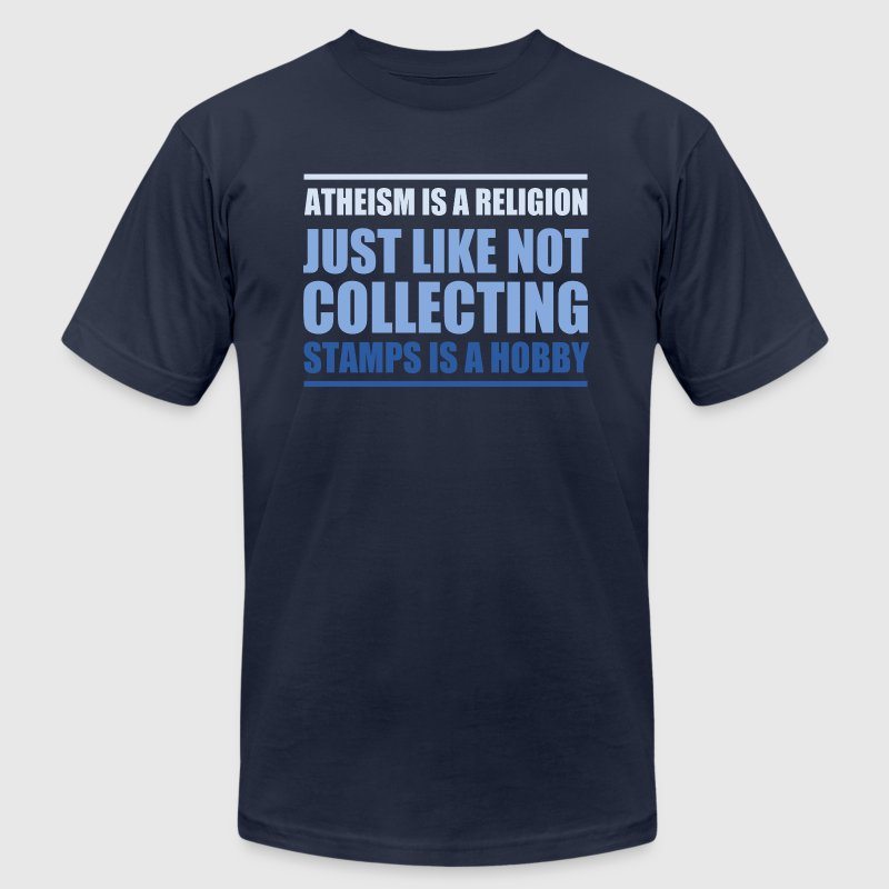 ATHEISM IS A RELIGION - Men's Fine Jersey T-Shirt