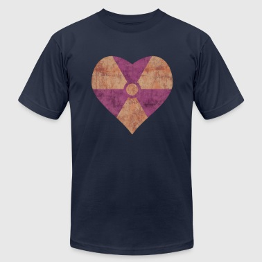 Radiation Symbol Heart - Men's Fine Jersey T-Shirt