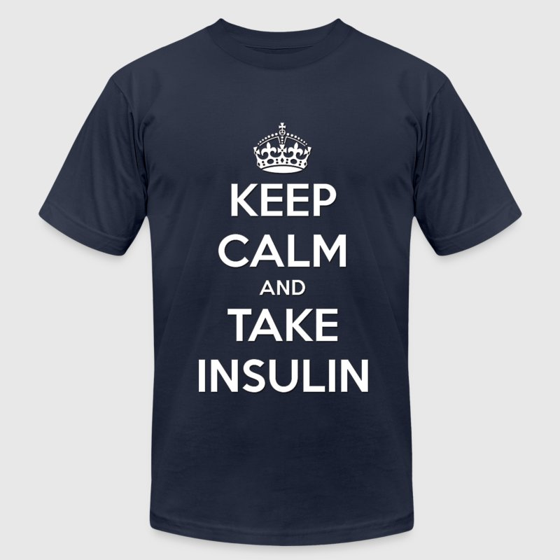 Keep Calm and Take Insulin  - Men's Fine Jersey T-Shirt
