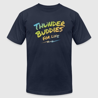 thunder buddies for life – multicolour - Men's Fine Jersey T-Shirt