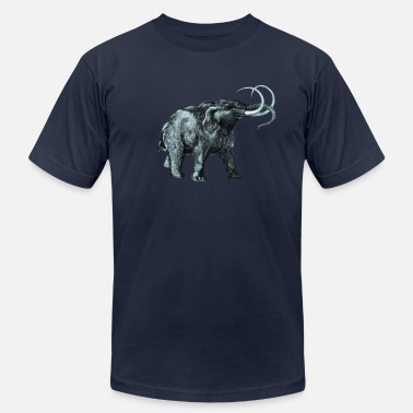 North Island The mammoth, Primal elephants from the past. - Men's Jersey T-Shirt