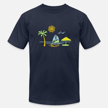 Sun Of A Beach island_paradise_vacation_beach - Men's Fine Jersey T-Shirt