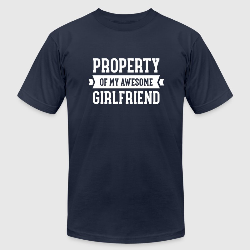 Property Of My Awesome Girlfriend - Men's Fine Jersey T-Shirt