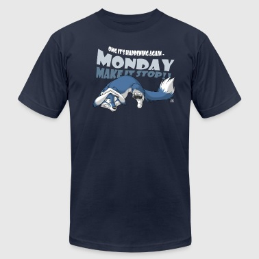 Monday - Make it stop! (blue) - Men's Fine Jersey T-Shirt