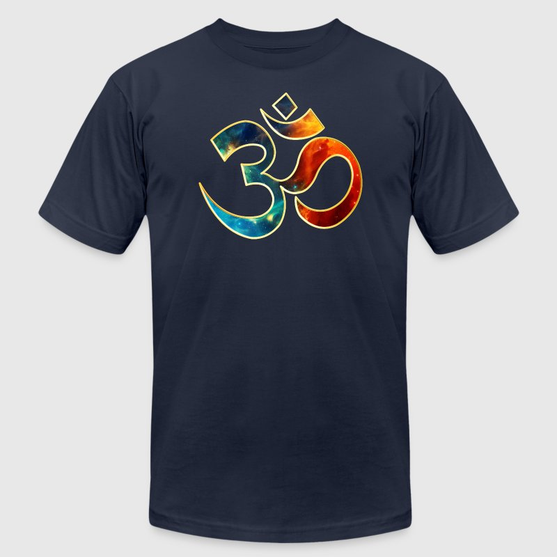 Space OM, Sound of Universe, Symbol Evolution - Men's Fine Jersey T-Shirt
