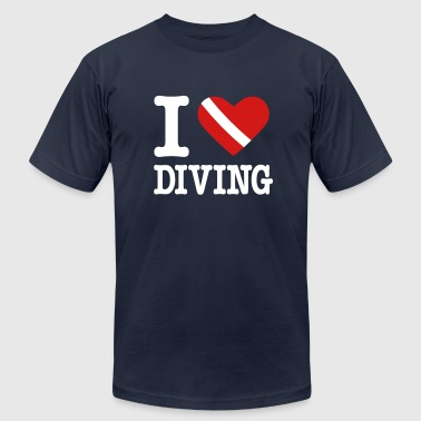 I Love Diving I love Diving - Men's Fine Jersey T-Shirt