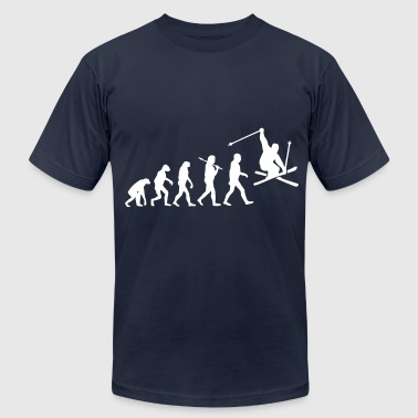 Evolution Of Ski Evolution Ski - Men's Fine Jersey T-Shirt