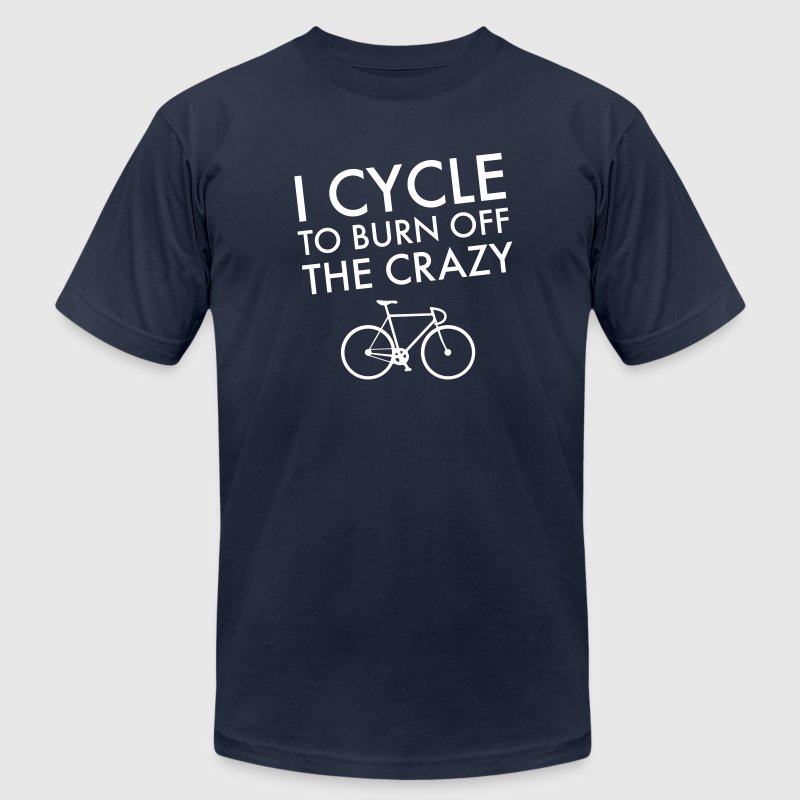 I Cycle To Burn Off The Crazy - Men's Fine Jersey T-Shirt