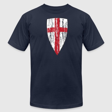 Crusader Shield Flag - Men's Fine Jersey T-Shirt