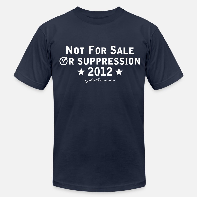 Democrat T-Shirts - Voter Suppression - Men's Jersey T-Shirt navy