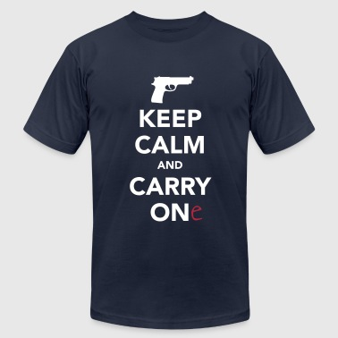 Keep Calm and Carry One - Pro Gun - Men's Fine Jersey T-Shirt