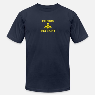 Caution Wet Caution: Wet Taint - Men's Jersey T-Shirt