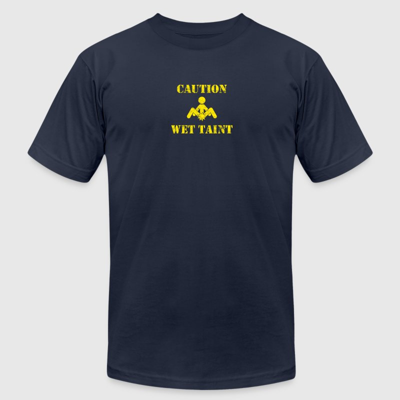 Caution: Wet Taint - Men's Fine Jersey T-Shirt