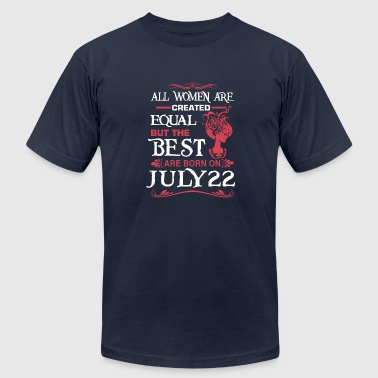 The Best Woman Born In July The Best Woman Born On July 22 - Men's Fine Jersey T-Shirt