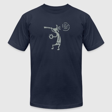 Native American Church kokopelli_carving_sun - Men's Fine Jersey T-Shirt