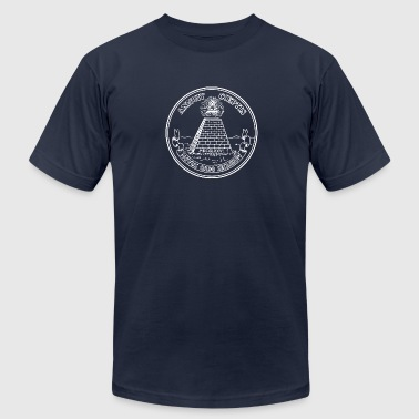 All seeing eye, pyramid, dollar, freemason, god - Men's Fine Jersey T-Shirt