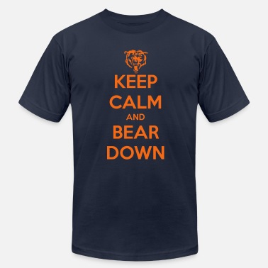Bear Down Keep Calm and Bear Down - Men's Fine Jersey T-Shirt