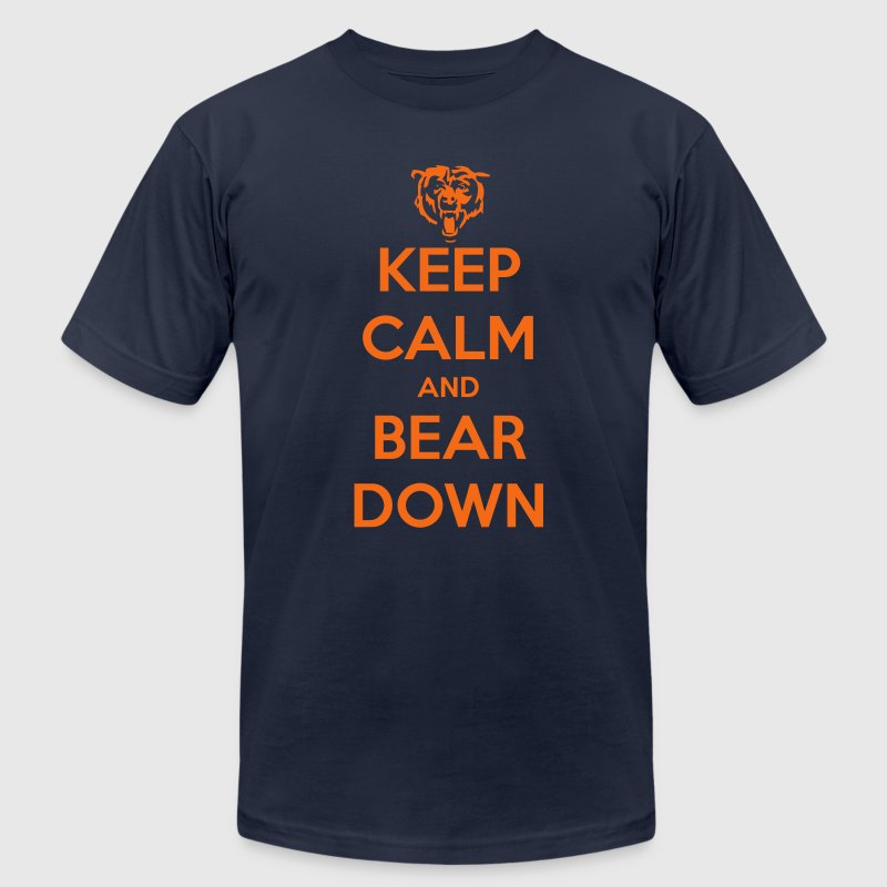 Keep Calm and Bear Down - Men's Fine Jersey T-Shirt