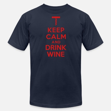 Keep Calm And Drink Wine Keep calm Drink Wine - Men's Fine Jersey T-Shirt