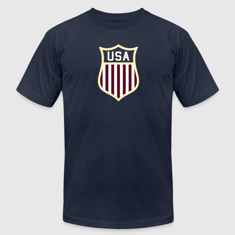 USA  Badge - Men's Fine Jersey T-Shirt