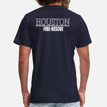 Hfd Houston Fire Department Firefighter Ems Rescue Paramedic Houston  FIRE RESCUE - Men's Fine Jersey T-Shirt