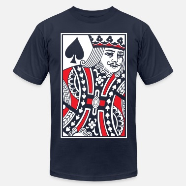 King Kings of Spades - King Card - Men's Jersey T-Shirt