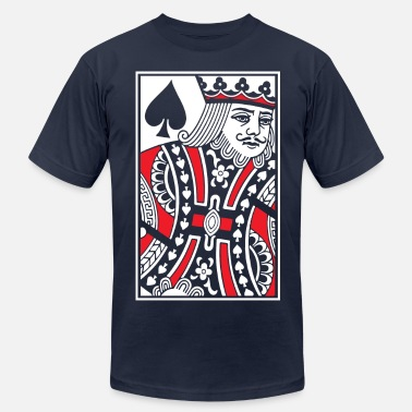 Playing Card Kings of Spades - King Card - Men's Jersey T-Shirt