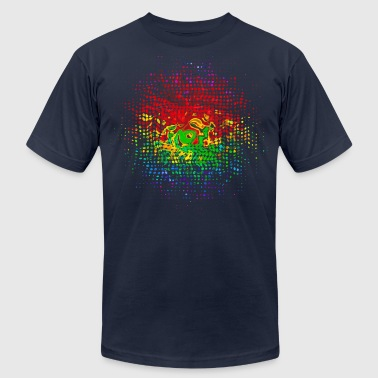 Color Dots, Party, Festival, Splash, Retro, Swirl, - Men's Fine Jersey T-Shirt