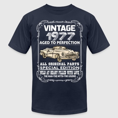 VINTAGE 1977-AGED TO PERFECTION - Men's Fine Jersey T-Shirt