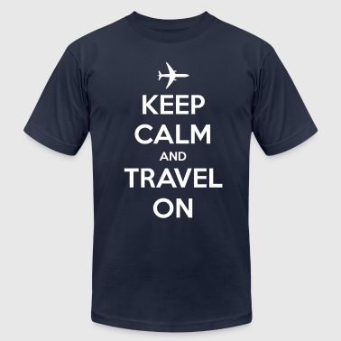 Keep Calm and Travel On - Men's Fine Jersey T-Shirt