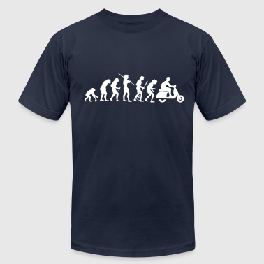 Motorcycle Rider Evolution Scooter Vespa - Men's Fine Jersey T-Shirt