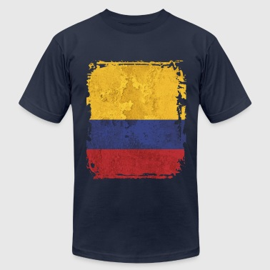 Colombia Flag - Men's Fine Jersey T-Shirt
