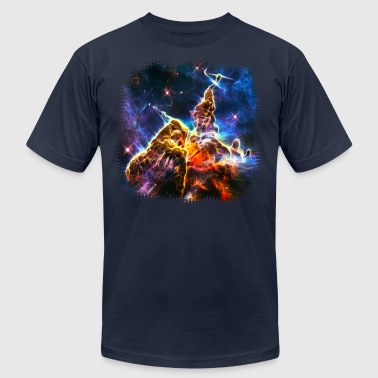 Mystic Mountain, Carina Nebula, Space, Galaxy, - Men's Fine Jersey T-Shirt
