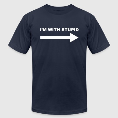 I'm with stupid - Men's Fine Jersey T-Shirt