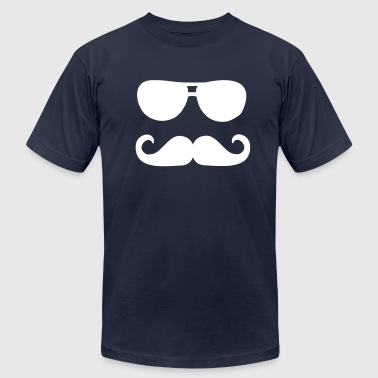 Mustache sunglasses - Men's Fine Jersey T-Shirt