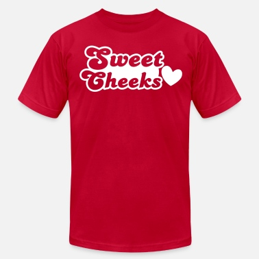 Cheek sweet cheeks with cute little love heart - Men's Jersey T-Shirt
