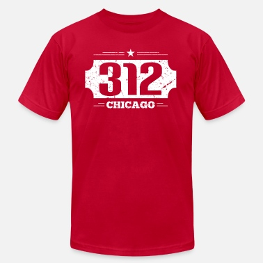 312 Chicago 312 Chicago Area Code - Men's  Jersey T-Shirt