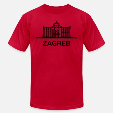 Zagreb From Croatia with Love - Silhouette Zagreb black - Men's  Jersey T-Shirt