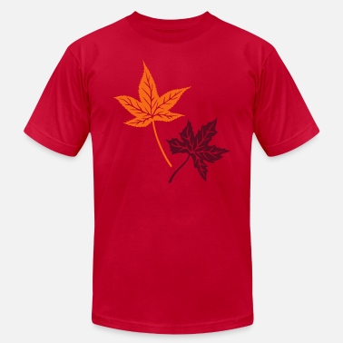 Flags Leaves Maple, autumn, leaves, maple leaves - Men's Fine Jersey T-Shirt