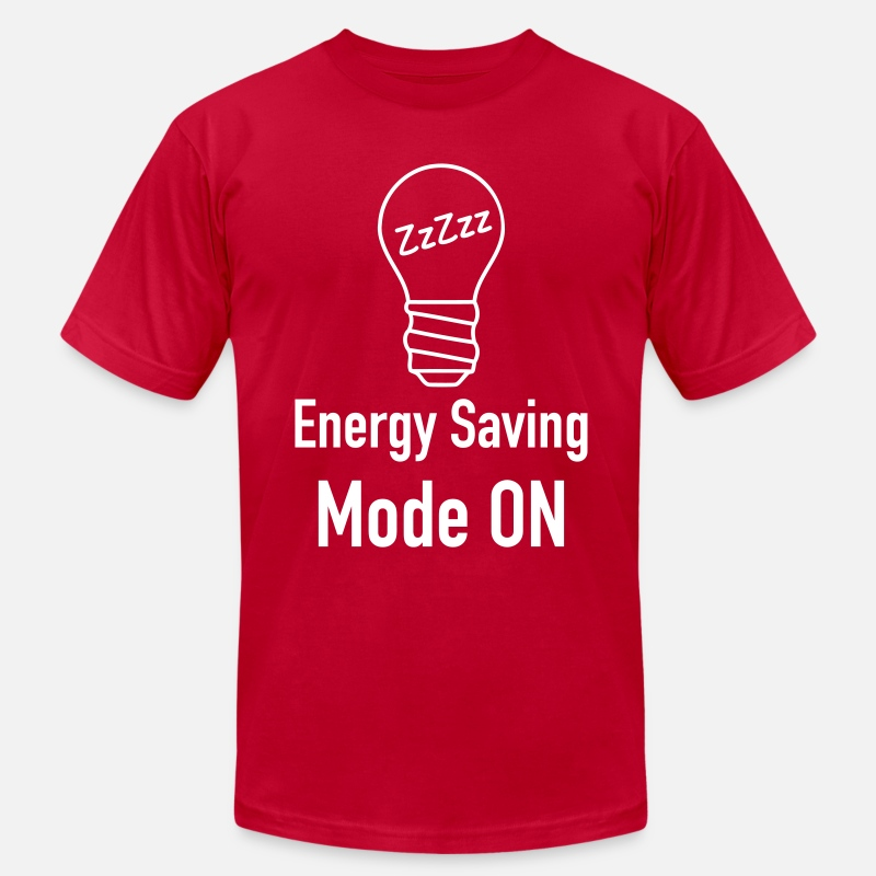 6697645e083146 Energy T-Shirts - Energy Saving Mode On - Men s Jersey T-Shirt red